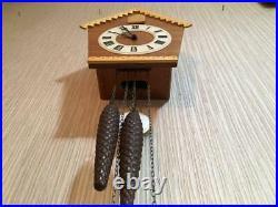 1975 Vintage USSR Mayak Wall Hanging Mechanical Wooden Cuckoo Clock Fight
