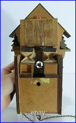 2x Vintage German Wooden Cuckoo Clock Job Lot Weather House Handcrafted H53