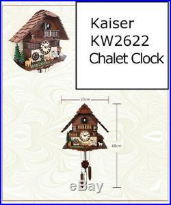 A18KQKW2622 Kaiser Chalet style Quartz Cuckoo solid wood