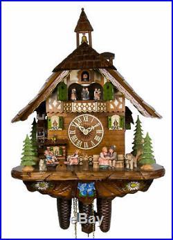 Adolf Herr Cuckoo Clock Happy Family AH 801/1 8TMT NEW