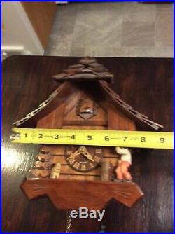 Adolf Herr Cuckoo Clock The Busy Wood Chopper 2003