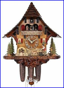 Adolf Herr Cuckoo Clock The Busy Wood Chopper AH 446/1 8TMT NEW