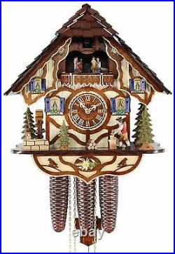 Adolf Herr Cuckoo Clock The Busy Wood Chopper AH 533/1 8TMT NEW
