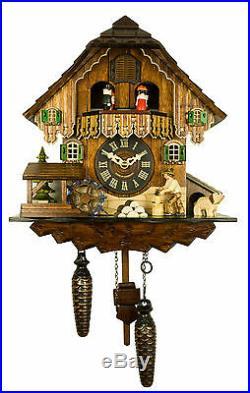 Adolf Herr Quartz Cuckoo Clock The Busy Wood Chopper AH 448 QMT NEW