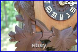 Antique Black Forest Cuckoo Clock Quail in Working Condition