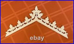 Antique Clock-Railroad Cuckoo-Topper Crown- XL New- Solid Wood -Grapes Design