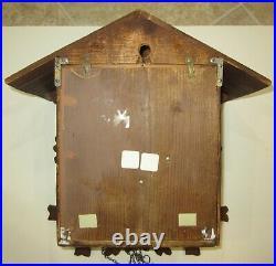 Antique G. K Double Cuckoo Bird Quarter Hour Cuckoo Clock 30-Hour Large Clock