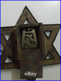 Antique Judaica wall cookoo clock Germany wood and Bakelite (m45)