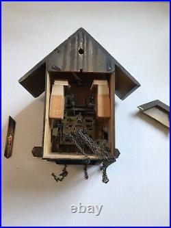 Antique Shmeckenbecher German Black Forest Dancing Musical Cuckoo Clock REPAIR