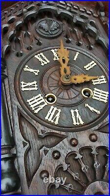 Antique Victorian Black Forest Cuckoo Clock GHS Mantel shelf clock