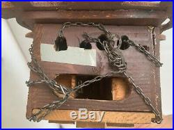 Antique wooden Black forest cuckoo clock Germany 1880