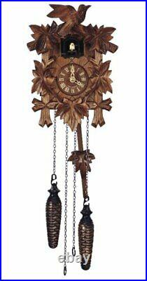 Anton Schneider Quartz Cuckoo Clock 5 Leaves, Bird, with Music SC Q 70/9