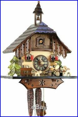 Bernhardiner 33cm- Original Black Forest Cuckoo Clock Real Wood M