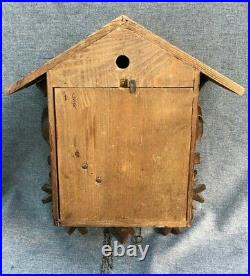 Big antique black forest cuckoo clock case wood mid 1900's Germany to restore