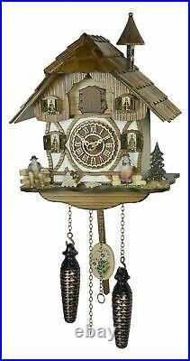 Black Forest Cuckoo Clock House with Music Quartz 4237QM