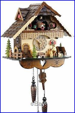Black Forest House 35cm- Cuckoo Clock Cuckoo Clock Real Wood New Batt