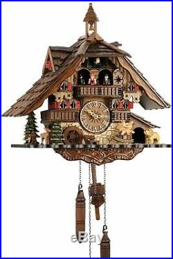 Black Forest House 41cm- Cuckoo Clock Cuckoo Clock Real Wood New Asked