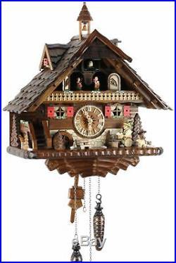 Black Forest House 42cm- Cuckoo Clock Cuckoo Clock Real Wood New Bat