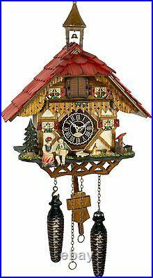 Black Forest House Quartz Cuckoo Clock with Music TU4284QM