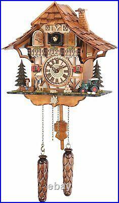 Black Forest House Quartz Cuckoo Clock with Music TU482QM