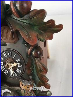 Black Forest Musical Cuckoo Clock By Hubert Herr -animated Figures & Moving Ears