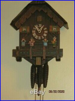 Black Forest Musical Cuckoo Clock W. Germany