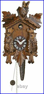 Black Forest Quarter Call Cuckoo Clock 1 day movement 3 leaves, deer motif