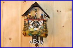 Black Forest Wood Chopper Animated Cuckoo Clock