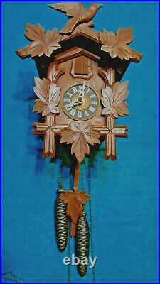 Black forest one day original German Cuckoo clock wood carving mechanical
