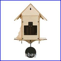 CHALET Diamantini & Domeniconi Birch Wood Pendulum Cuckoo Wall Clock