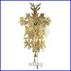 CUCU gold LEAF Luxury design cuckoo clock Diamantini Domeniconi