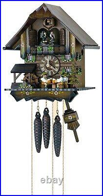 Cuckoo Clock Black Forest house with 4 moving beer drinkers. SC MT 4407/10 NEW