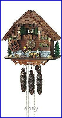 Cuckoo Clock Black Forest house with moving beer drinker and. SC 8TMT 697/9 NEW