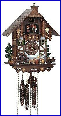 Cuckoo Clock Black Forest house with moving beer drinker and. SC MT 6564/9 NEW