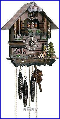 Cuckoo Clock Black Forest house with moving wood chopper and. SC MT 405/10 NEW