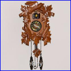 Cuckoo Clock Quartz Hand Carved Wood