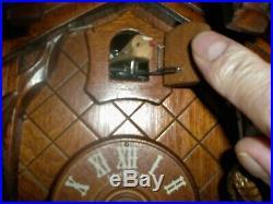 Cuckoo Clock by Anton Schneider, 100% all Hand Carved Wood, w. Night Shut Off