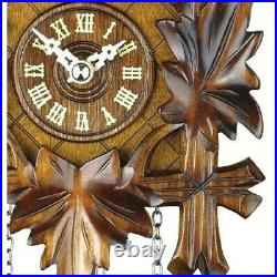 Cuckoo Clock in Traditional Carved Style with Music and Night Shut Off 412QM
