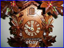 Cuckoo Clock, w. Animated Birds That Bend Down And Back to Feed Their Chicks