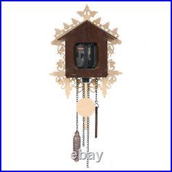 Cuckoo Wall Clock Hanging Handcraft Art Vintage Bird Swing Wood, Battery