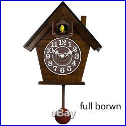 Cuckoo clock European Wood simple Creative Quartz Clock Bedroom Mediterranean Li