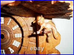 Cuckoo clock Project, Beautifully Hand Carved Solid Wood, Needs Work, As-Is