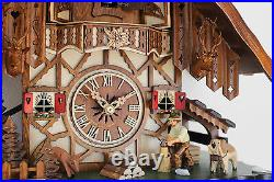 Cuckoo clock black forest 8 day original german wood chopper new