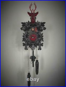 Cuckoo clock black forest design quartz german wood batterie clock handmade