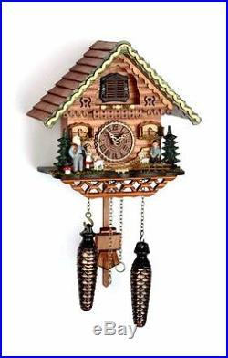 Cuckoo clock black forest quartz german music Heidi House wood new