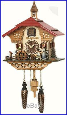 Cuckoo clock black forest quartz german music beer drinker battery wood