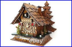 Cuckoo clock black forest quartz german wood batterie clock handmade table clock