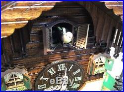 Cuckoo clock black forest quarz germany quartz battery operated wood