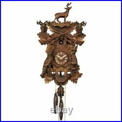 Danbury Mint White Tailed Deer Wood Cuckoo Clock. New old stock in the box