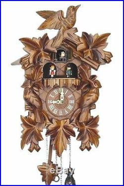 Dreivogel 39cm- Cuckoo Clock Cuckoo Clock Real Wood New Batteriebe